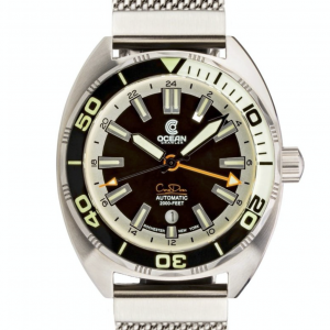Ocean Crawler Core Diver GMT – Black White