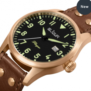 Le Jour Flieger Bronze   BLACK Face  FL 001