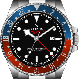 Ocean X SHARKMASTER GMT II Quartz Black Dial